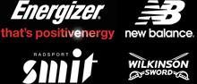 Hauptsponsoren 2013 - Energizer, New Balance, Radsport Smit, Wilkinson